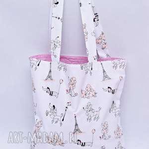 na zakupy torba paryż ekologiczna bawełniana shopperka, torba