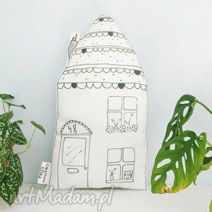 poduszka domek skandynawski - poduszka, domek, skandynawski, podusia, pokoik, biała