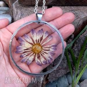 naszyjniki z31 naszyjnik z suszonymi kwiatami, herbarium jewelry, kwiaty