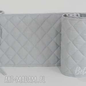 Pikowany ochraniacz do łóżeczka 60x120 szary, ochraniacz-do-łóżecz,