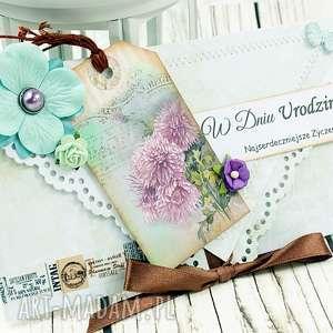 kopertówka urodzinowa- kwiatowa poczta - urodziny, podarunek, kartka, prezent