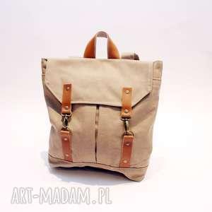 plecaki plecak jasny, plecak, płóocienny, karabinki torebki, wyjątkowy prezent