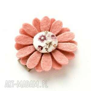 spineczka do włosów kwiatek z filcu florence, spineczki, spinki, filcowe