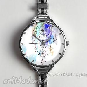 hand made zegarki łapacz snów ii - zegarek z dużą tarczką 0875ws