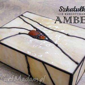 Szkatułka witrażowa amber witraże hanielgallery szkatułka