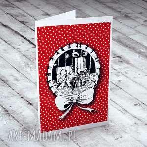 pomysł na prezent świąteczny WESOŁYCH ŚWIĄT! - KARTECZKA, bożonarodzeniowe, kartki