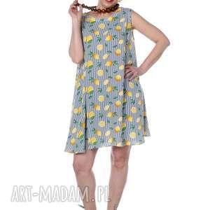 sukienki orzeźwiające cytryny, uniwersalna i lekka sukienka, designerska, polska