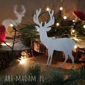 bombka zawieszka jeleń - ,drewniane,jeleń,las,bombka,zawieszka,świąteczna,