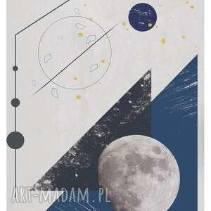 oryginalny prezent, plakat moon landing, moon, księżyc, minimalizm, linie