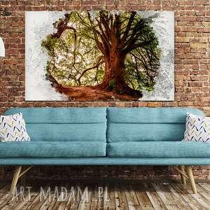Obraz drzewo 45 - 120x70cm mądrości na prezent piękny hit