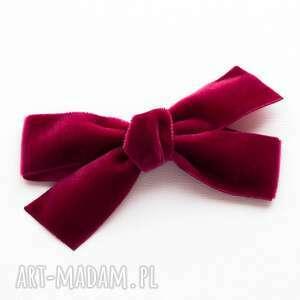 ręcznie wykonane pomysł na prezent pod choinkę spinka do włosów kokarda velvet bow