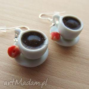 ręcznie robione kolczyki kolczyki filiżanki kawy