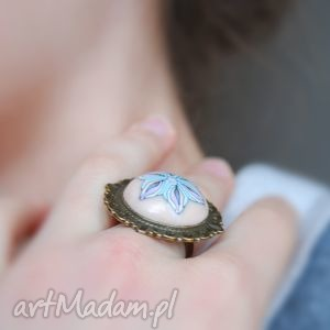 pastelowy pierścionek z polymer clay
