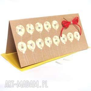 ręczne wykonanie kartki urodzinowa kartka:: balloons:: yellow & red