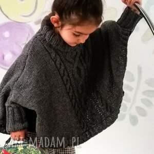 Poncho Amiens, poncho, sweter, narzutka, peleryna, wełniane, dziergane
