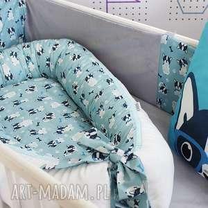 Kokon Gniazdo dla niemowlaka - Bulldog , kokon, gniazdo, niemowlę, buldożki, pokój