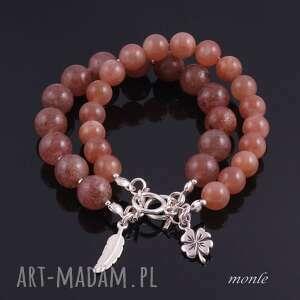 Kwarc rubinowy, bransoletka - ręcznie robione