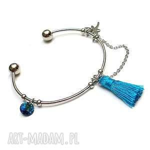 Alloys Collection - boho /bermuda blue/ , stal, szlachetna, swarovski, chwost