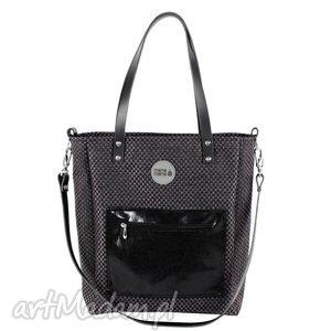 torba cuboid glam pocket - usztywniana, wygodna, prezent, mana-mana, personalizacja, haft