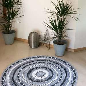 Okrągły dywan Azur - 120 cm, dywan, zesznurka, dekoracja, stylowy, koronkowy