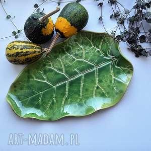 ręcznie robione ceramika patera dekoracyjna talerz ceramiczny liść