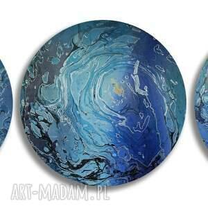 oryginalne prezenty, alexandra13 tryptyk geograficzny 3, abstrakcja, dekoracja