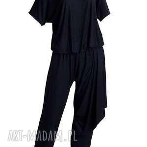 spodnie z kokarda - kombinezon, boho etno kombinezon