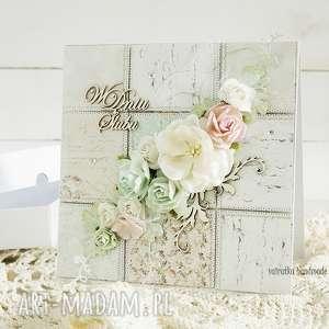 kartka ślubna w pudełku 157 vairatka handmade wesele