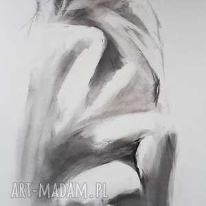 love, grafika kobieta, zmysłowa, rysunek para, węglem