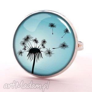 dmuchawiec - pierścionek regulowany - niebieskie pierścionki
