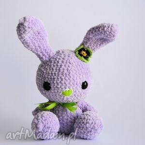 króliczek fiołek - królik, króliczek, szydełkowanie