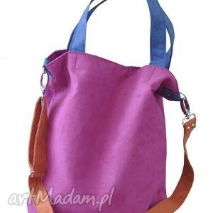 torba hobo xl - fuksja, kobalt, pomarańcz, hobo, alcantara