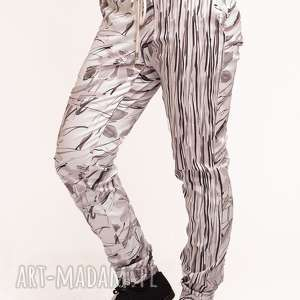 Spodnie z drukowanej bawełny, nadruk, floral, pattern, kwiatowy, printed, wzór