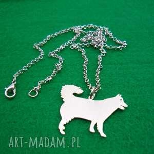 naszyjnik malamut pies nr 80, naszyjnik, pies, rasy-psów, rękodzieło