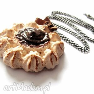 NASZYJNIK słodkie ciASTKO, naszyjnik, modelina, masa, fimo, ciastko