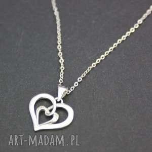 naszyjnik srebrny serduszko, naszyjnik, srebrny, serce, wisiorek, walentynki