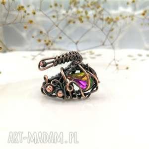 fairy - pierścionek regulowany z kryształem