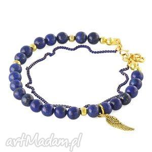 gentleness - lapis lazuli with wing - skrzydełko