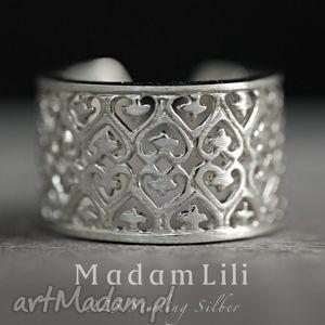 Prezent 925 srebrny pierścionek ORNAMENT, srebro, 925, orient, ornament, prezent