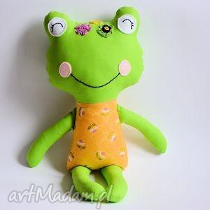 panna żabka w rumianki - zabawka, maskotka, przytulanka, rumianek dziewczynka