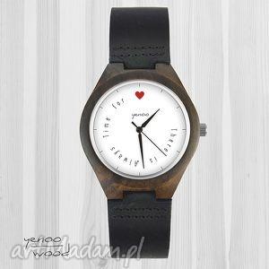 handmade drewniany zegarek - there is always time for love miłosny, walentynkowy