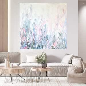 obraz ręcznie malowany 90x90