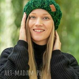 hand-made czapki fun zielenie