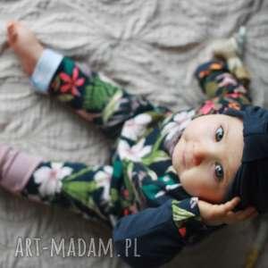 komplet dla dziewczynki 74-98 cm spodnie bluza turban, dziecka