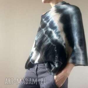 anna damzyn eleganckie wełniane ponczo, sweter, tunika, wełna, one size