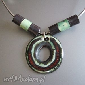 """handmade naszyjniki naszyjnik """"urok miętowej zieleni"""""""