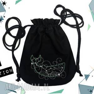 plecak worek mini gwiazdozbiór walenia - ,plecak,worek,kosmos,haft,waleń,