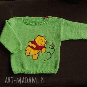 Sweterek Kubuś , rękodzieło, sweterek, włóczka
