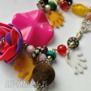 hand-made kolorowa bransoletka bardzo optymistyczna