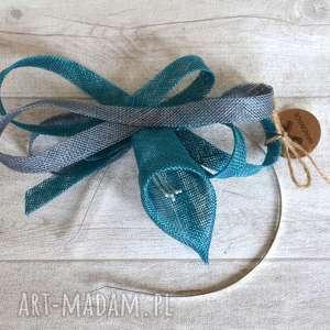 handmade ozdoby do włosów lilia turkusowa